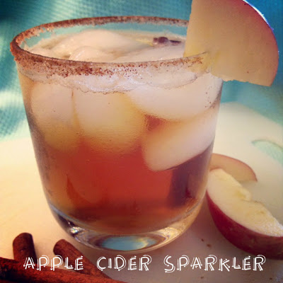 Apple Cider Sparkler in a glass
