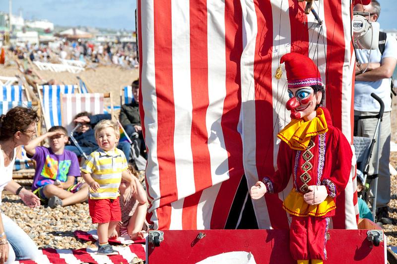 Puppet show at  Brighton