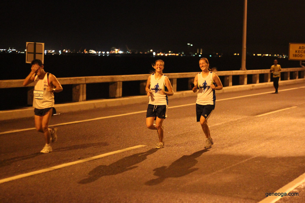 Twins at the Penang Bridge International Marathon 2013