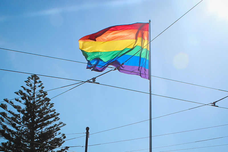 San Francisco Castro's gay flag