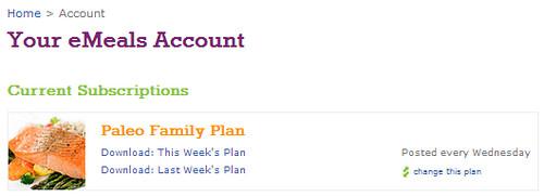 emeal weekly plan