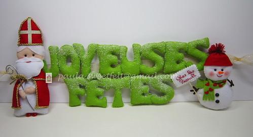 ♥♥♥ JOYEUSES FÊTES!  Para decorar a porta da famíilia Picault... by sweetfelt \ ideias em feltro