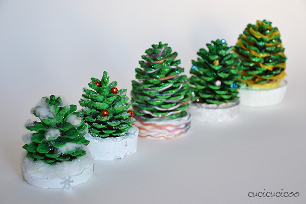 Pine Cone Christmas Trees: A Tutorial For Kids