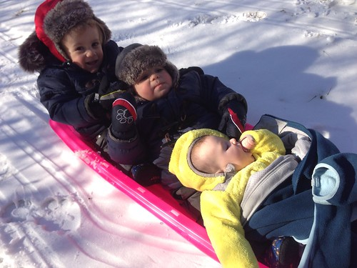 Sledding Cousins