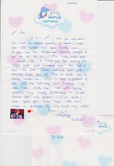 Letter written by a 10-year old Jessica to her Lola Lou