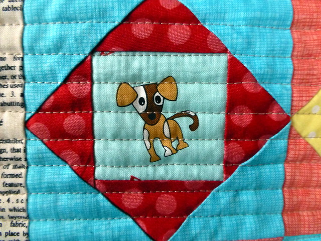 Economy Blocks Zippered Tote