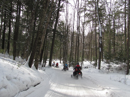 Snowmobile club ride