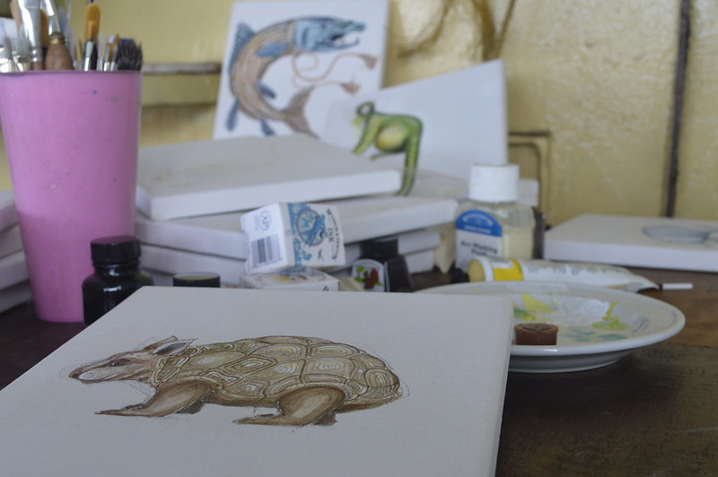 menagerie paintings in progress