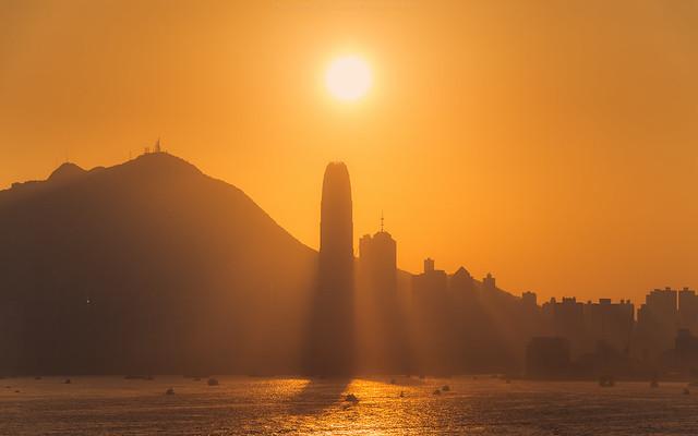 HKG  silhouette skyline