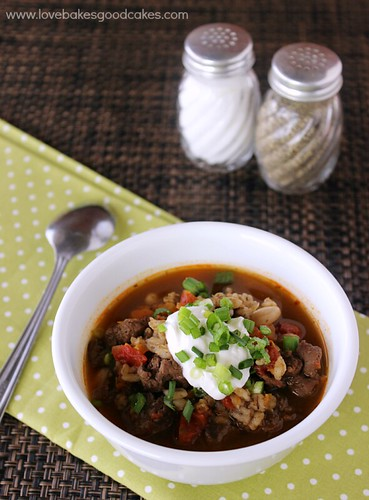 Southwest Beef Bean & Barley Soup #soup #healthy #beef #bean #barley #souprecipe