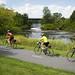 La Route Verte est bien présente au Centre-du-Québec et propose de belles pistes cyclables. / The Route Verte has beautiful bike trails going through the Centre-du-Québec.