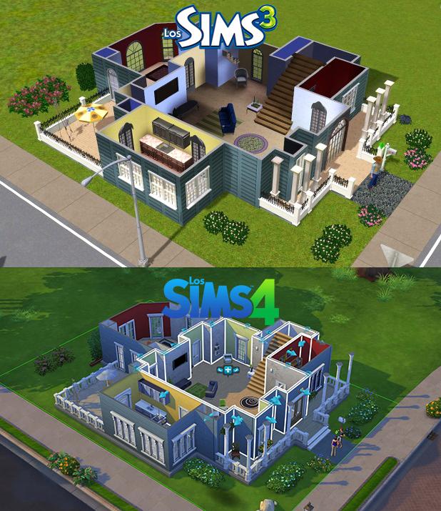 Screenshots vergleich sims 3 zu sims 4 for Planos de casas sims