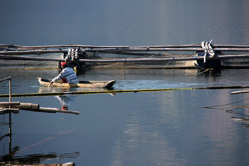 Fishing on the Lake Batur