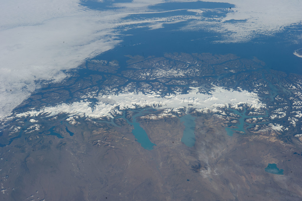 Southern Patagonia Icefield (NASA, International Space Station, 02/14/14)
