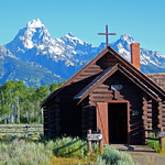 Chapel Of The Transfiguration And The Grand Teton Mountain Range Jackson Wyoming