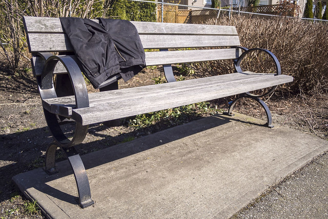 Trousers on a Bench
