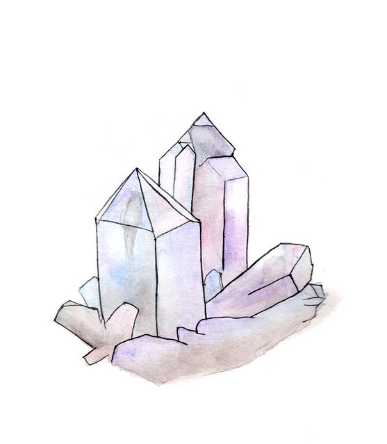 watercolor crystals- Bombasine.com