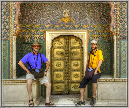 left to right, brian and ben in jaipur