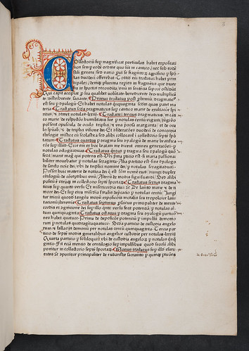 Decorated initial in Gerson, Johannes: Collectorium super Magnificat