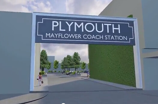 Plymouth Mayflower coach station   YouTube