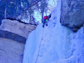 Slava Nearing the Top of Hidden Falls