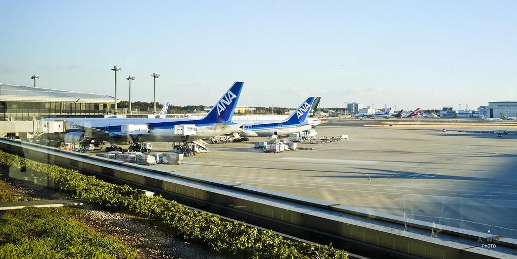 ANA 777s at Narita