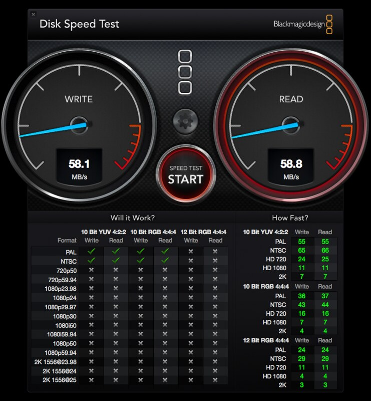 USB 3.0 - Disk Speed Test
