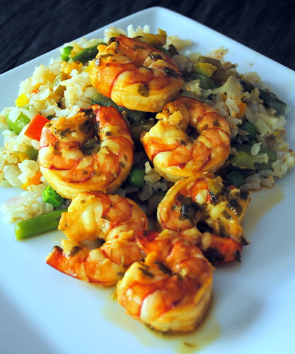 Drunken Shrimp with Veggie Fried RIce