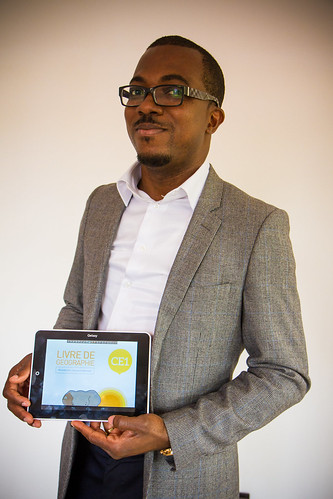 Thierry N'Doufou and his team of IT specialists developed a tablet — the Qelasy — specifically for the Ivorian market as they aim to bring local school kids into the digital era. Credit: Marc-André Boisvert/IPS