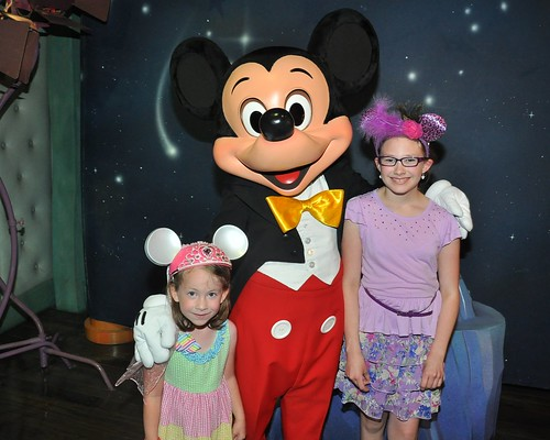 Girls with Mickey June 2013