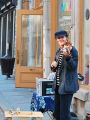 A happy street artist