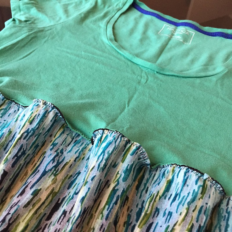 Teal and Mint Summer Dress - In Progress