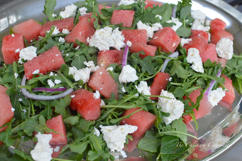June 2015 Family Dinner: Watermelon-Feta Salad
