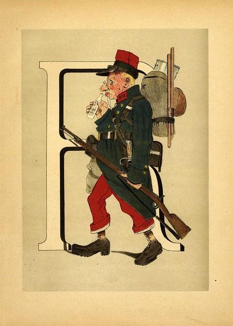 010-Armee française  nouvel alphabet militaire-1883- H. de Sta-BNF