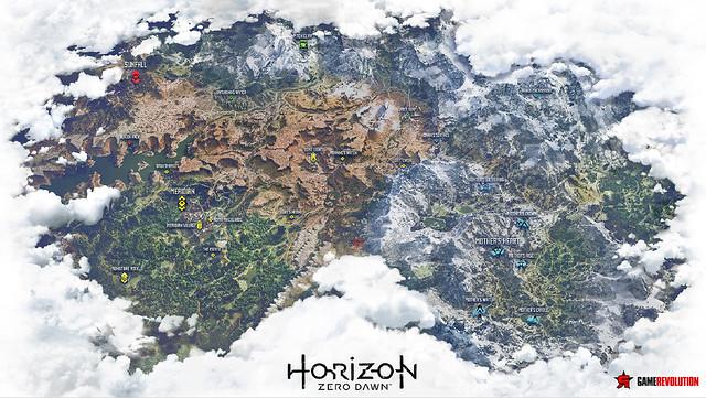 Horizon Zero Dawn ワールドマップ