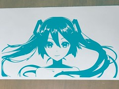 #MIKU Custom decal 6x11