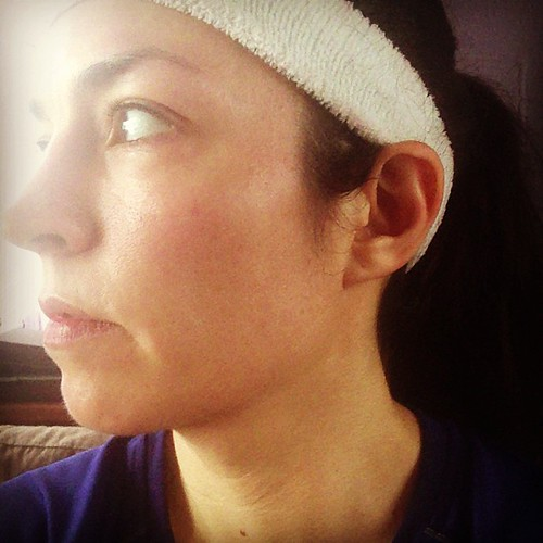 Sweatbands: warm weather necessity but very unattractive. #100bysummer