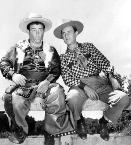 Abbptt & Costello in ''Ride 'Em Cowboy'' 1942