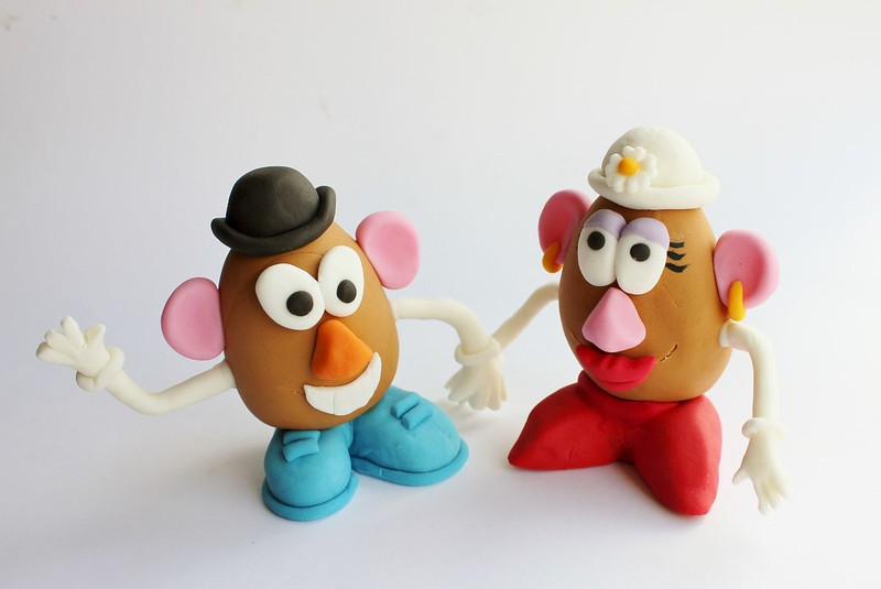Mr & Mrs Potato Head Cake Toppers