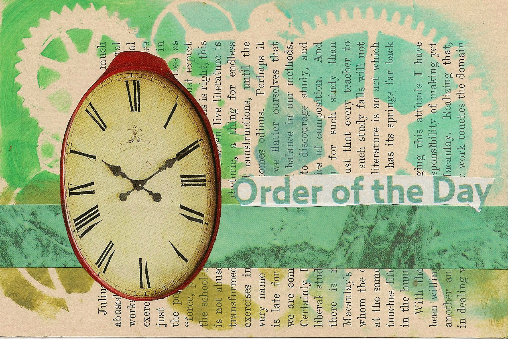 ICAD- Order of the Day