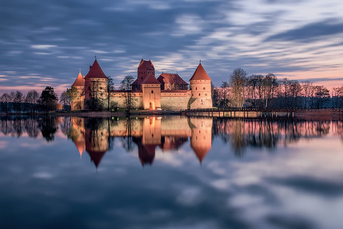 morning travel blue trees sky lake reflection slr tower castle water fairytale clouds digital photoshop sunrise landscape island photography dawn photo nikon europe european cloudy fineart towers smooth landmark baltic resort photograph processing mystical bluehour dslr cloudscape lithuania vilnius lithuanian trakai d800 lietuva postprocessing northerneurope travelphotography karaim troki karaites trakaiislandcastle islandcastle galvė thefella trakųsalospilis lakegalvė lietuvosrespublika conormacneill thefellaphotography