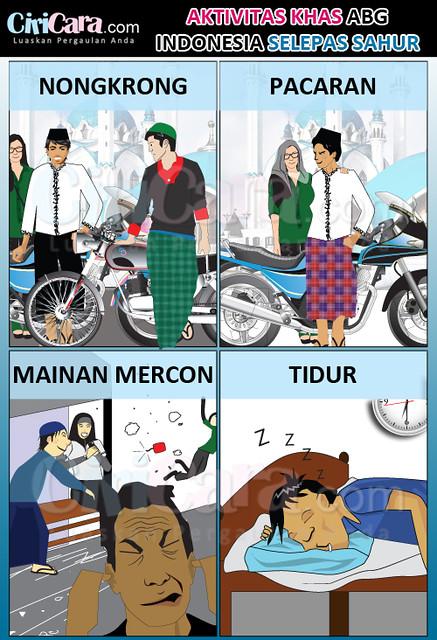 CiriCara---Infografis---Aktivitas-Khas-ABG-Indonesia-Selepas-Sahur