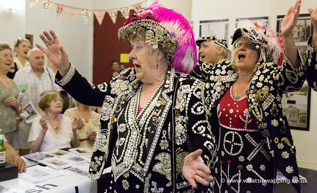 Pearly Kings and Queens sing and dance at the Cockney Heritage Festival Launch night