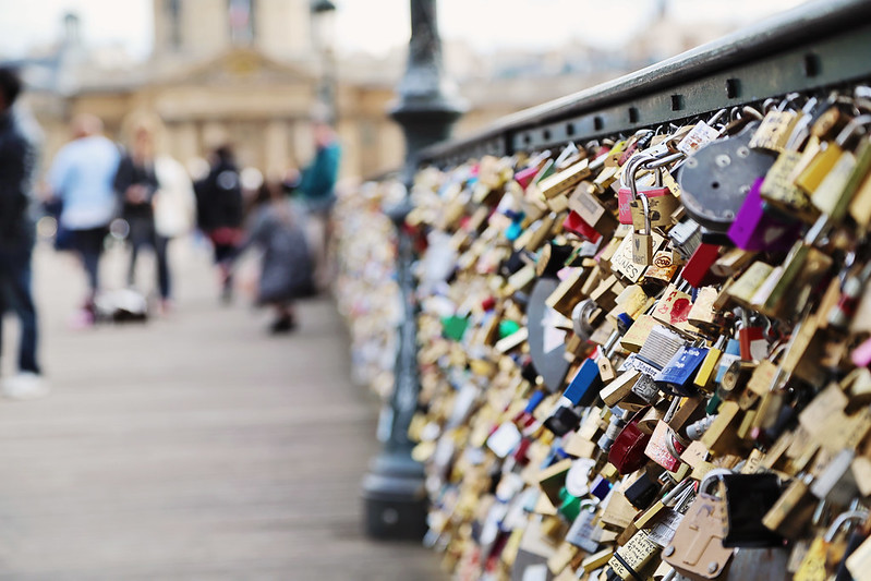 Locks on the Pont des Arts