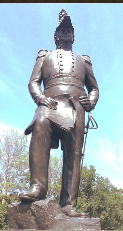 Statue of Colonel By in Majors' Hill Park, Ottawa, ON