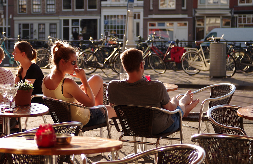 Amsterdam, Cafe Orloff on Kadijksplein