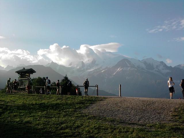 Vue Mont Blanc et Aiguille du midi...