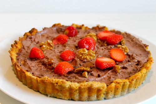 Chocolate Rum and Raisin Pie