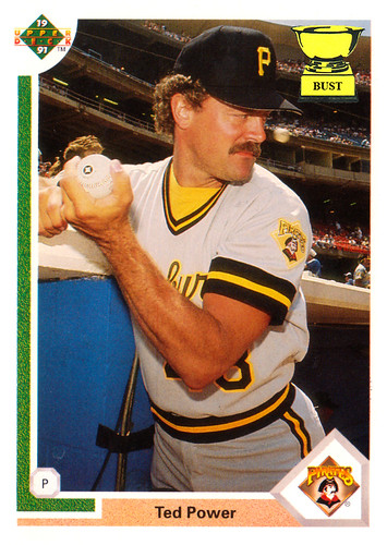 Baseball Card Bust: Ted Power, 1991 Upper Deck