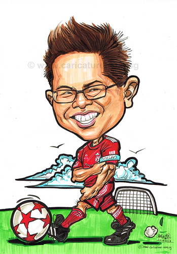 Liverpool soccer caricature for Property Guru